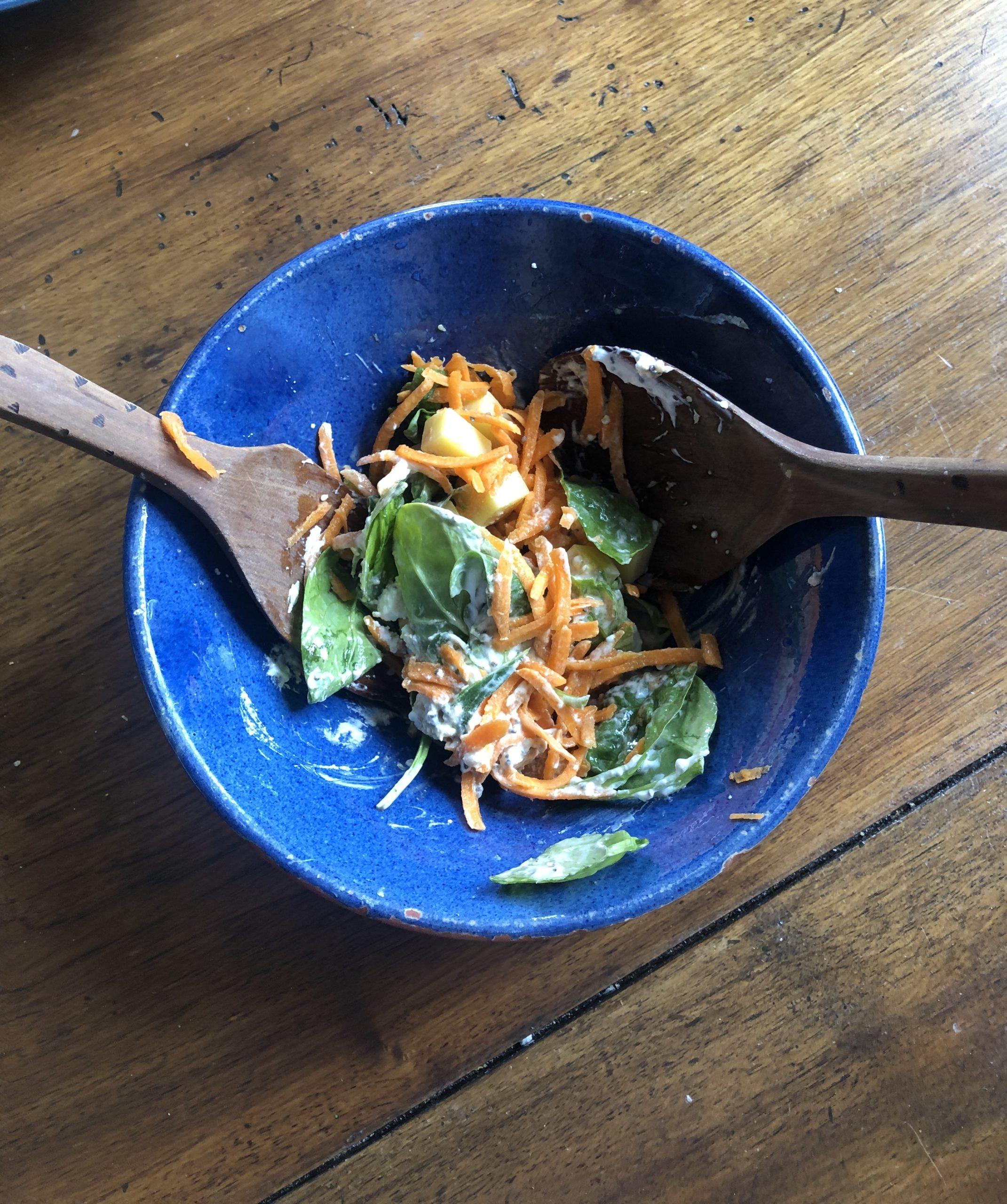 salade valériane, recette de cuisine, la pousse verte