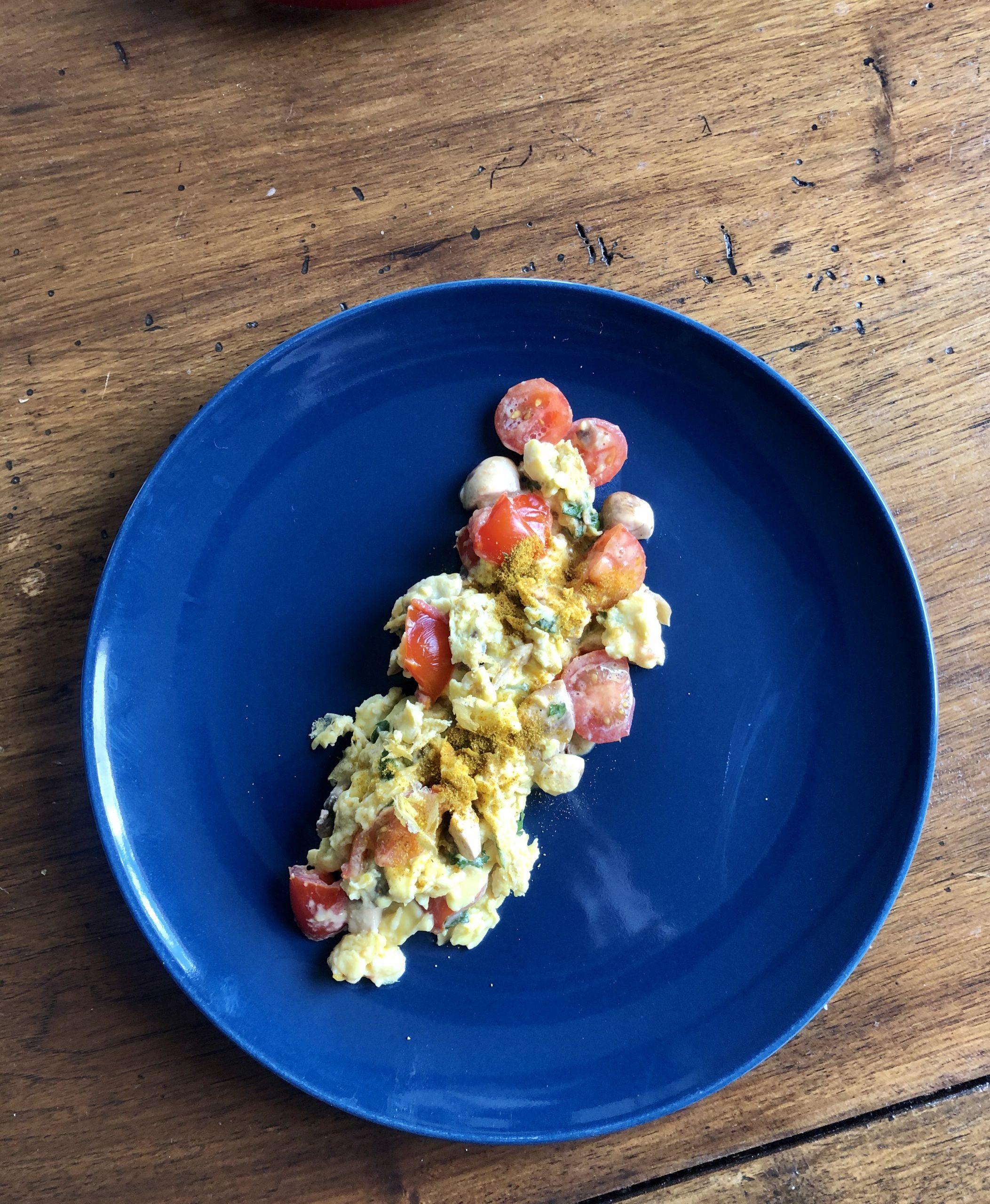 omelette tanaisie, la pousse verte