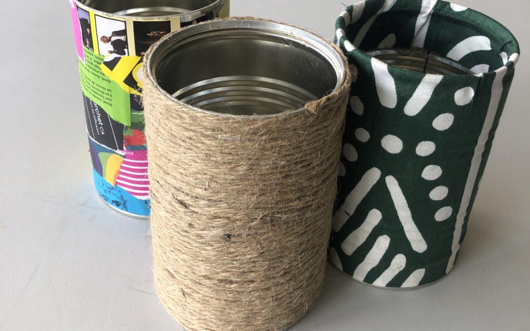 customiser boites de conserves, tuto, la pousse verte
