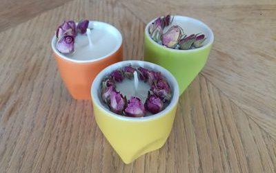 Le tuto DIY du mois : créer une bougie naturelle et fleurie