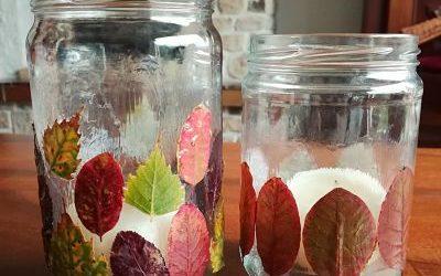 Le tuto DIY du mois : un photophore aux feuilles d'automne