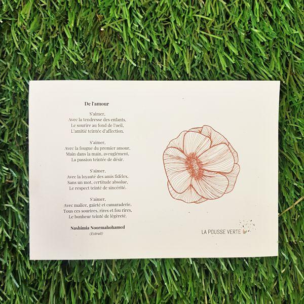 cadeau coquelicot poeme amour saint valentin